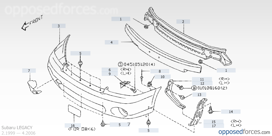 Subaru Outback Front End Diagram