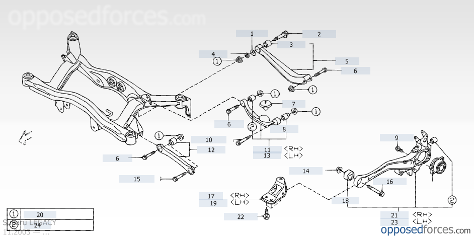info on ob to gt suspension geometry. (removing spacer ... diagram of 2005 subaru legacy gt engine