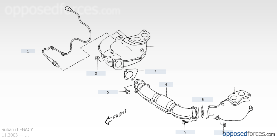 1999 subaru o2 sensor location