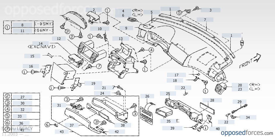 Subaru Outback Dashboard Diagram Electrical Work Wiring Diagram