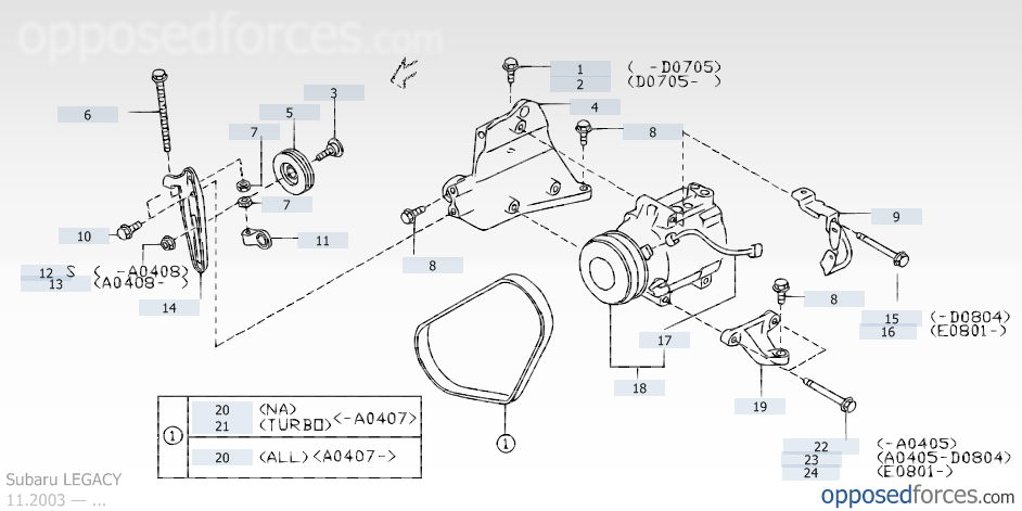 35087 Swap C  pressor Clutch Pulley Bearing on subaru air conditioning diagram