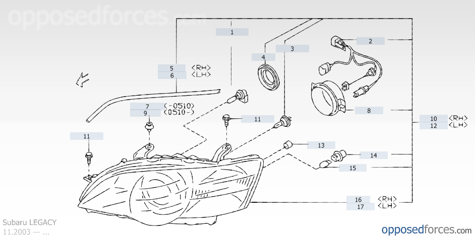 on 2005 Subaru Impreza Headlight Wiring Diagram