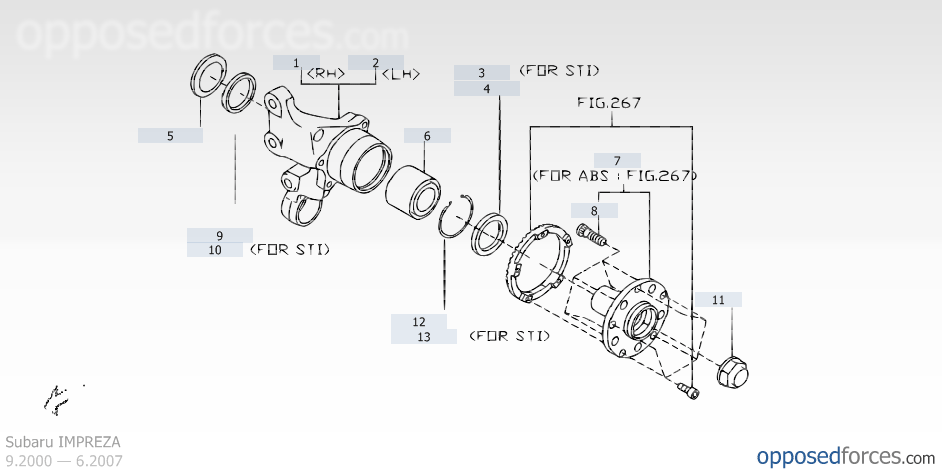 Tremendous Rear Axle Illustration 1 Subaru Impreza Subaru Parts Catalog Wiring 101 Orsalhahutechinfo