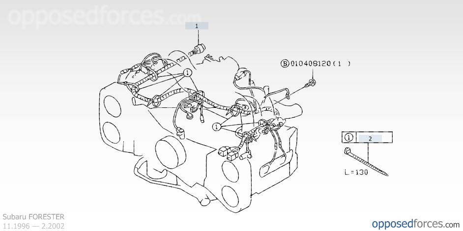 Engine wiring harness, Subaru FORESTER — Subaru parts catalog on oem engine wire harness, suspension harness, dodge sprinter engine harness, engine control module, hoist harness, engine harmonic balancer, bmw 2 8 engine wire harness,