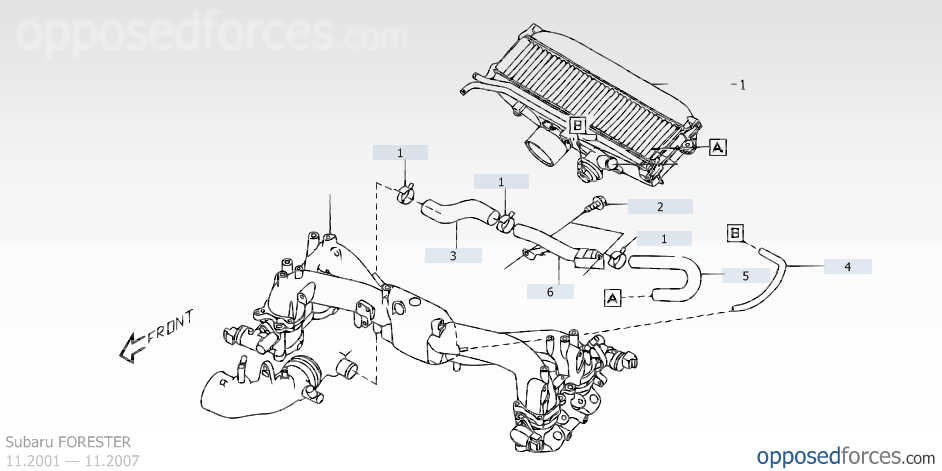 2004 subaru baja exhaust diagram