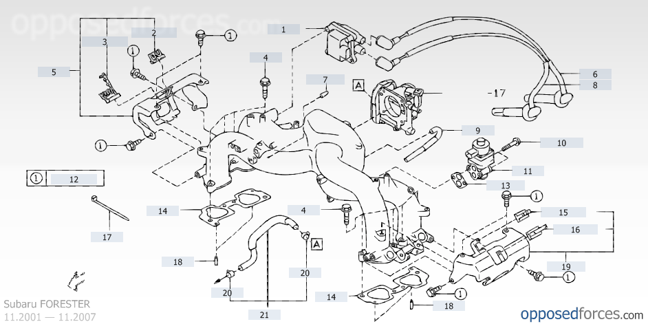 subaru outback egr valve location