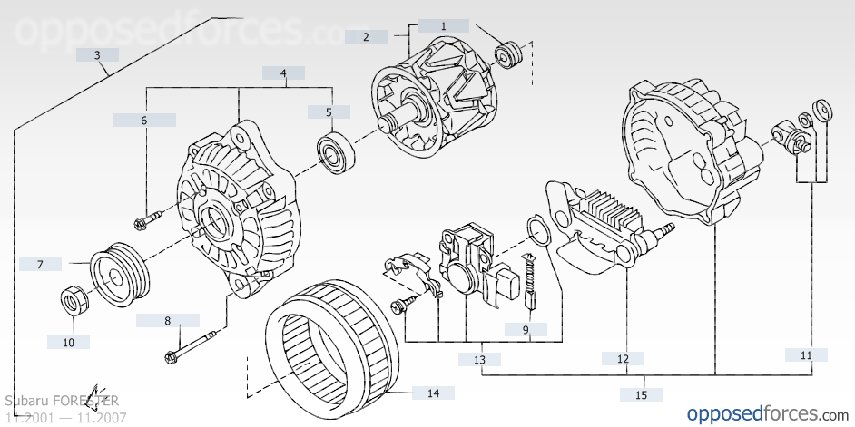 It Looks Like These Are The Parts I Need According To This Diagram Alternator Ilration Opposedforces