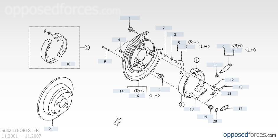 on Forester Drum Brake Diagram