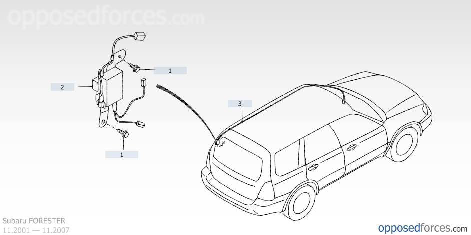 2006 Forester Antenna Not Working