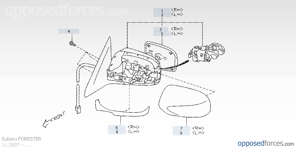 U0026 39 09- U0026 39 13  Driver Side Mirror Damaged  Part Numbers  Procedures