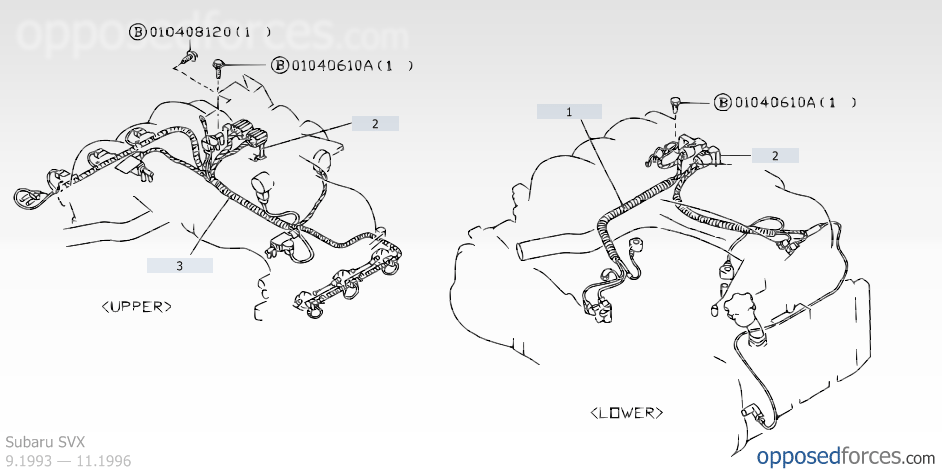 engine wiring harness, subaru svx \u2014 subaru parts catalogengine wiring harness, subaru svx