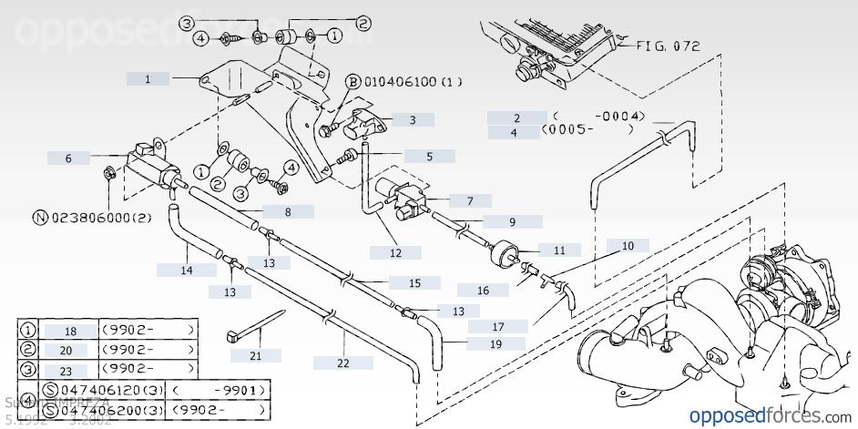 on 2005 Subaru Legacy Vacuum Line Diagrams
