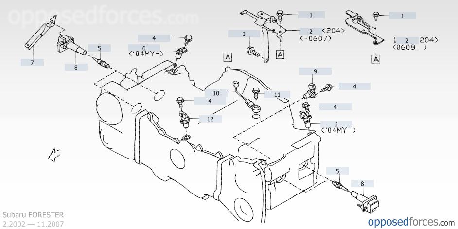 Crank Throttle Position Sensor Subaru Forester Owners