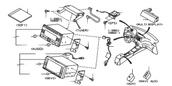 Subaru Impreza navigation parts diagram